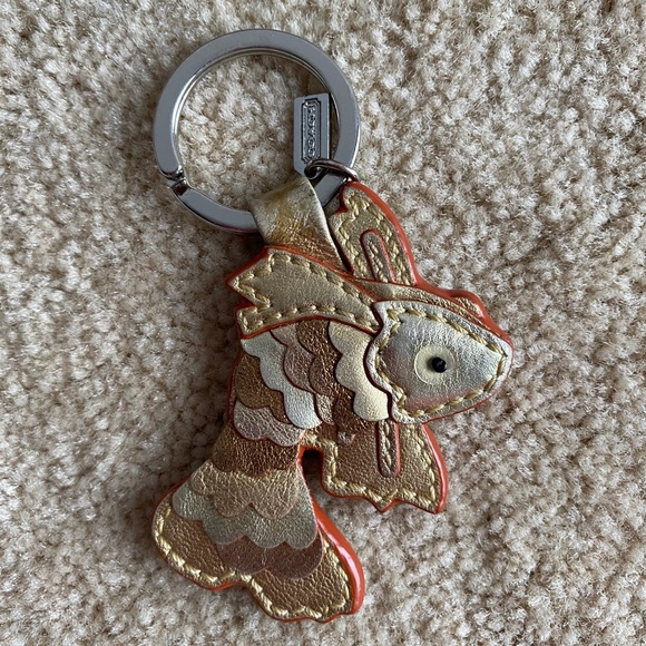 RARE Coach Koi Fish Key Fob Key Chain Bag Charm
